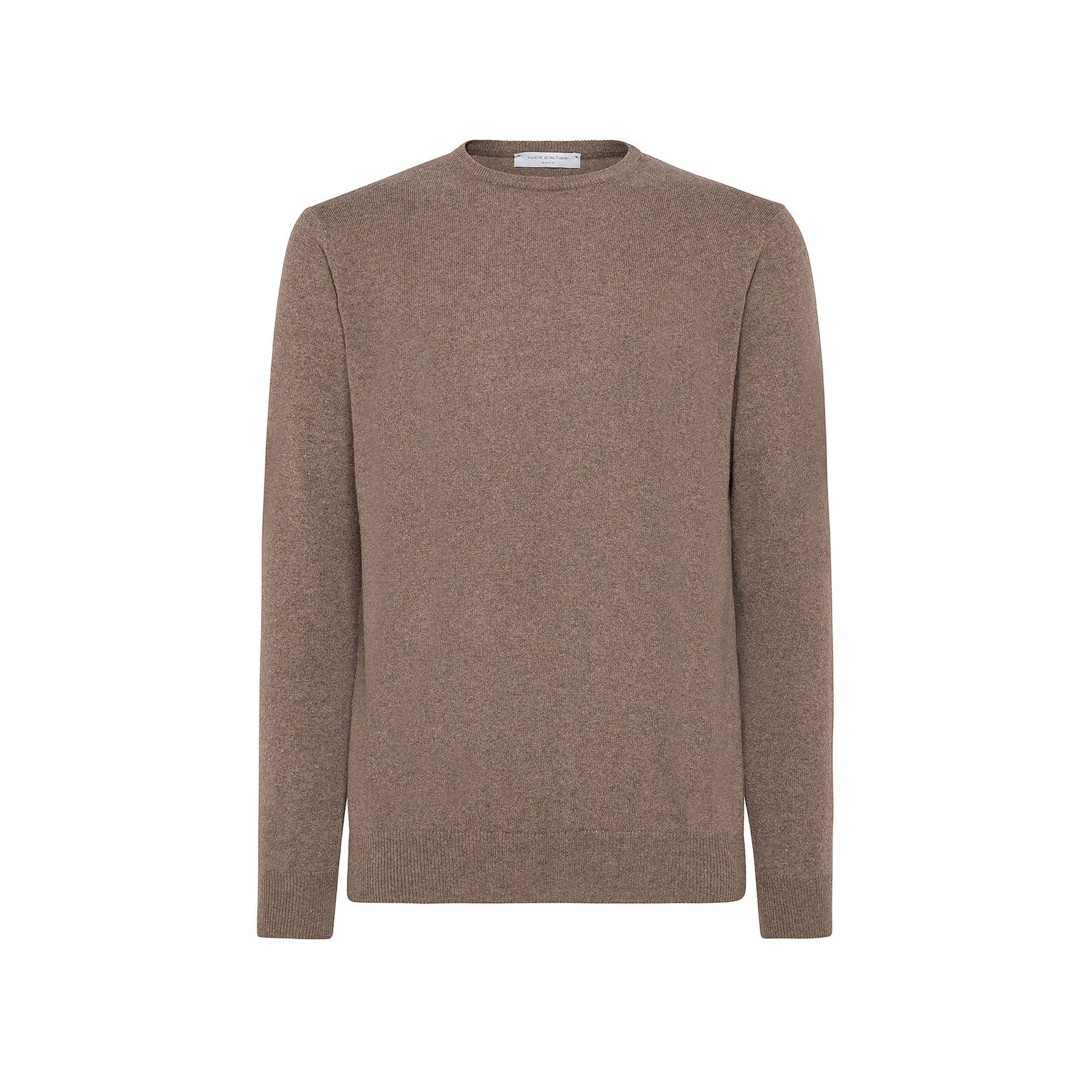 Cashmere blend pullover with round neck