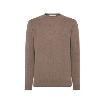 Pullover girocollo in cashmere blend