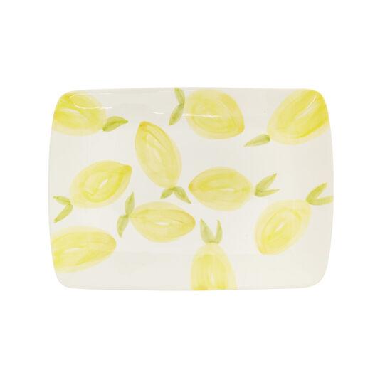 Ceramic plate with lemons motif