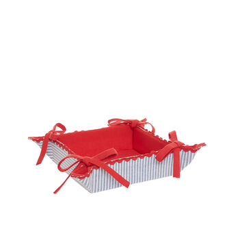 100% cotton square basket with stripes