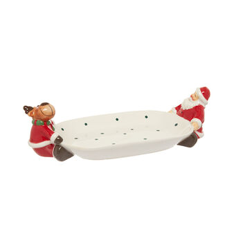 Ceramic Father Christmas tray