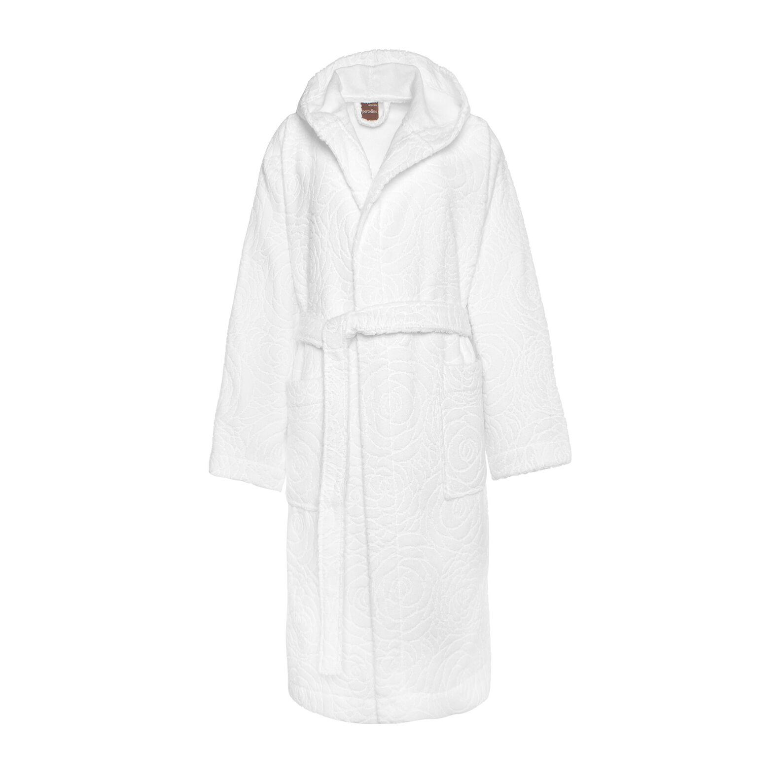 Portofino 100% cotton terry bathrobe with English roses