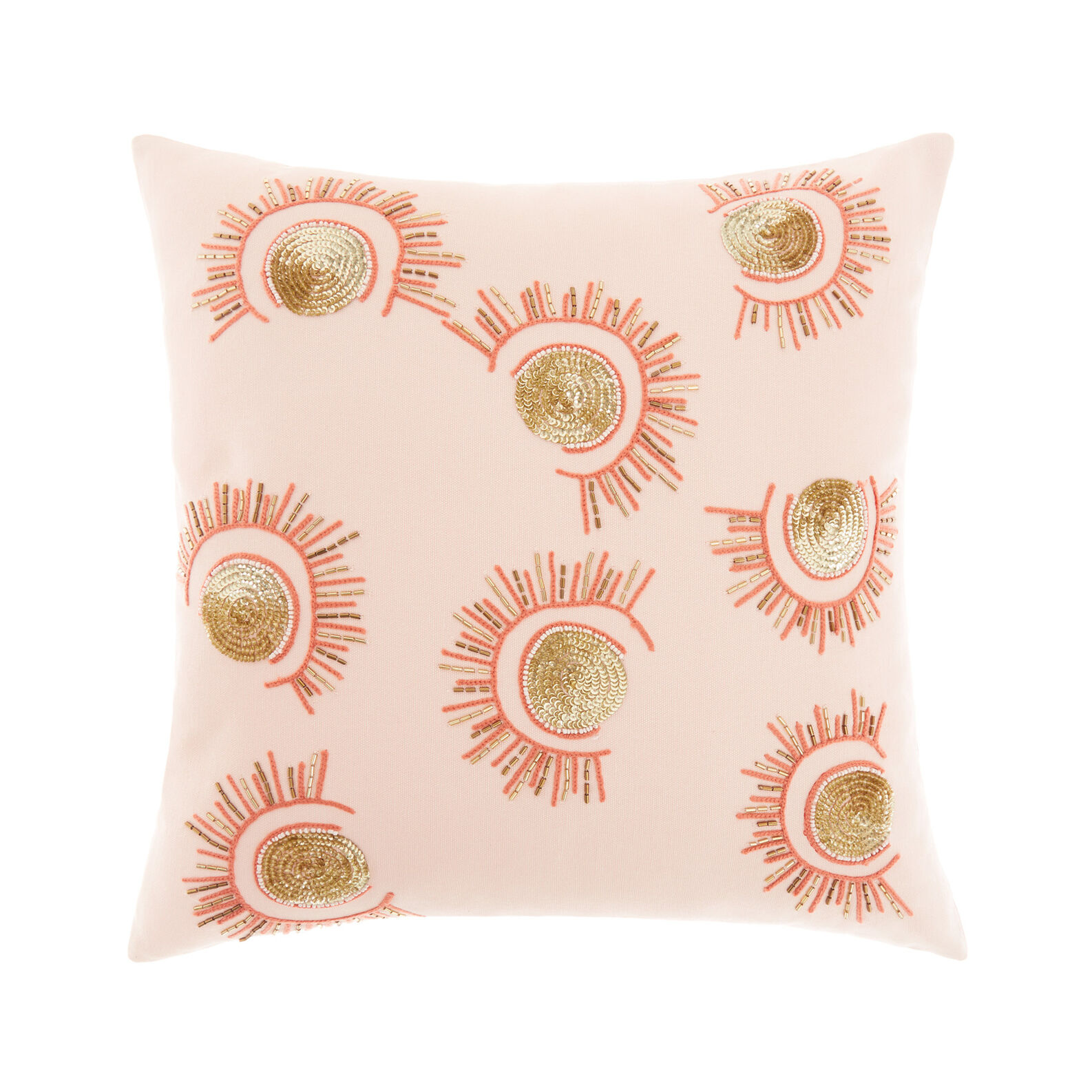 Cushion with sun embroidery