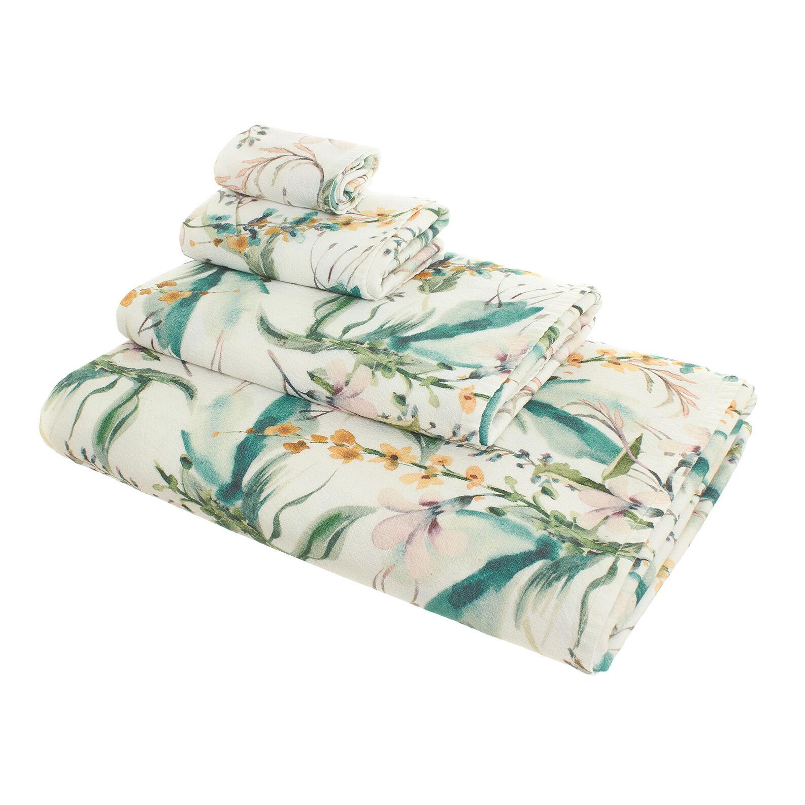 Asciugamano puro cotone stampa fiori
