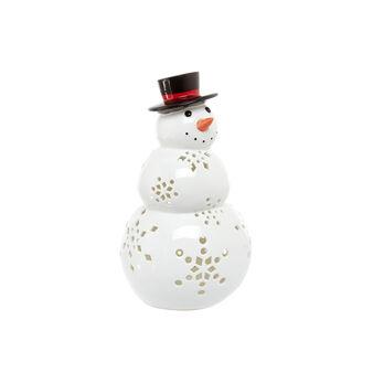 LED snowman in porcelain