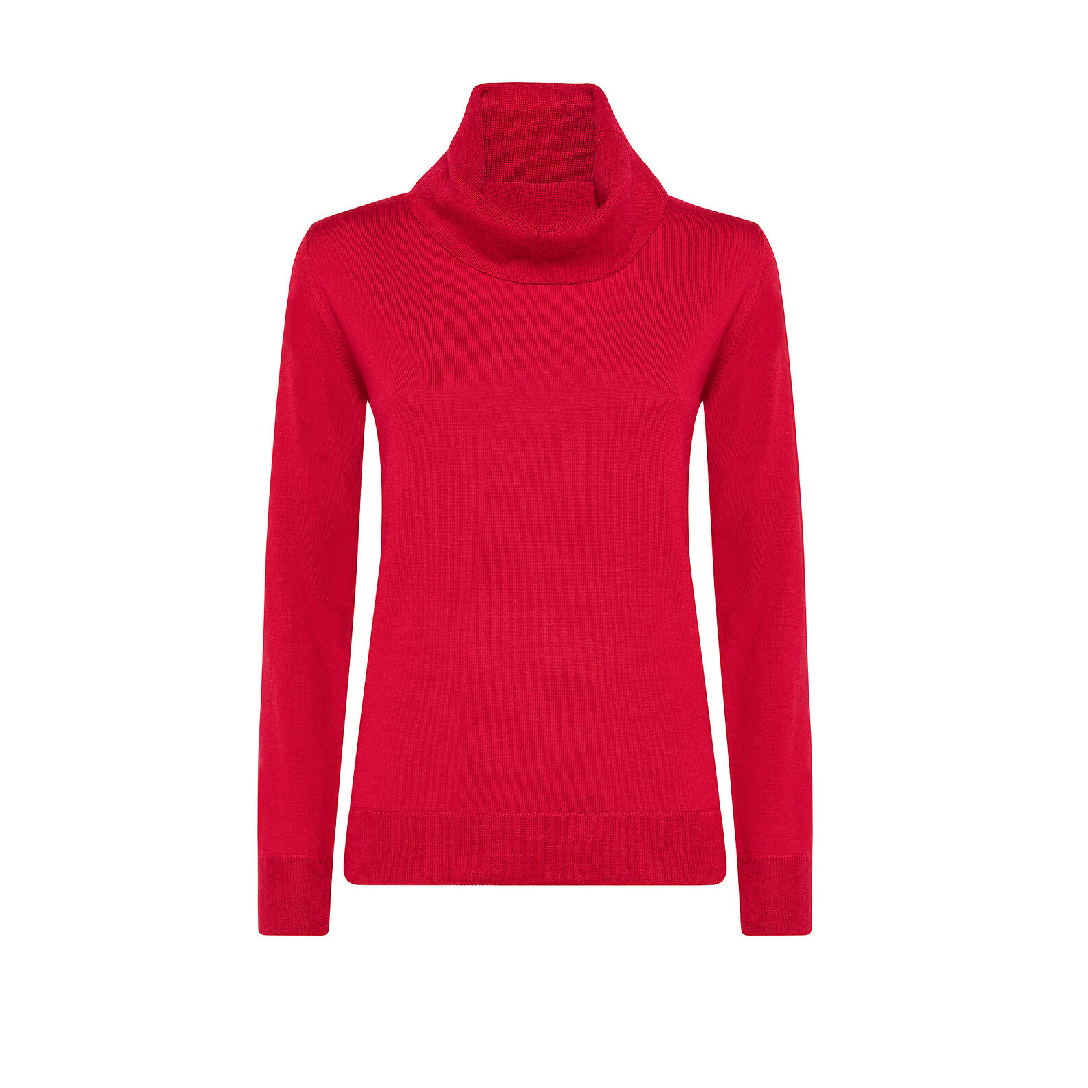 Solid color merino wool pullover