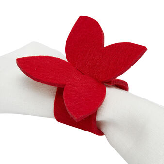 Set of 4 butterfly napkin rings in felt