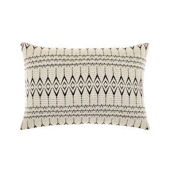 Geometric pattern jacquard cushion