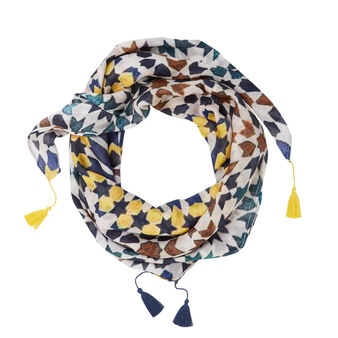 Moroccan print viscose scarf