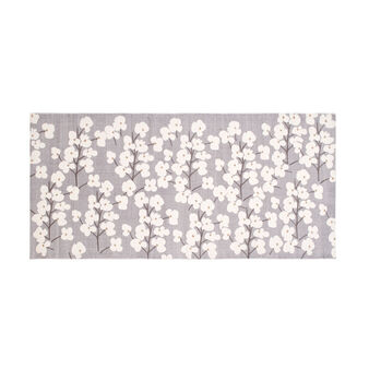 100% cotton floral kitchen mat