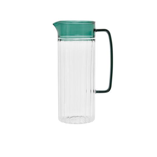 Borosilicate glass carafe in coloured handle