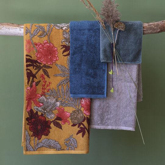 Asciugamano puro cotone motivo floreale