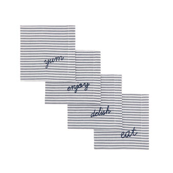 4-pack yarn-dyed striped napkins in 100% cotton