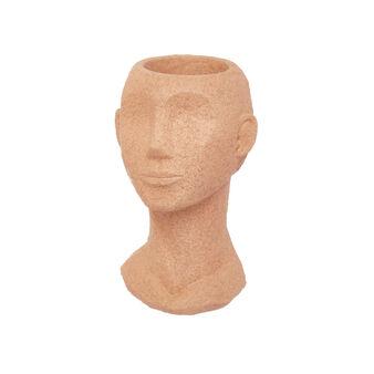 Vaso testa di donna rifinito a mano