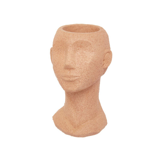 Hand-finished vase of a woman's head