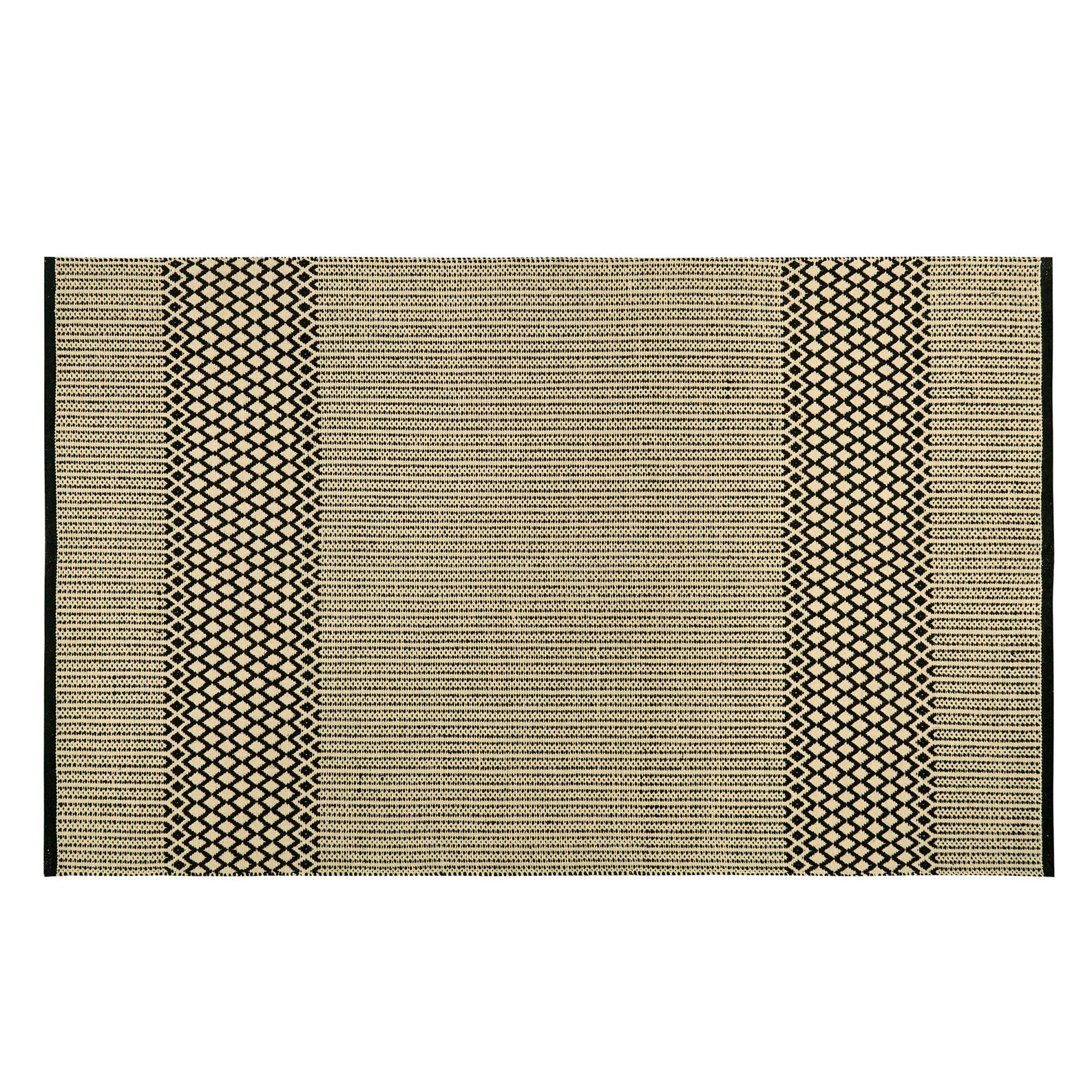 Cotton jacquard mat with geometric weave