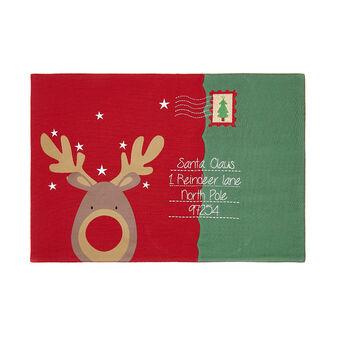Tovaglietta puro cotone stampa Rudolph