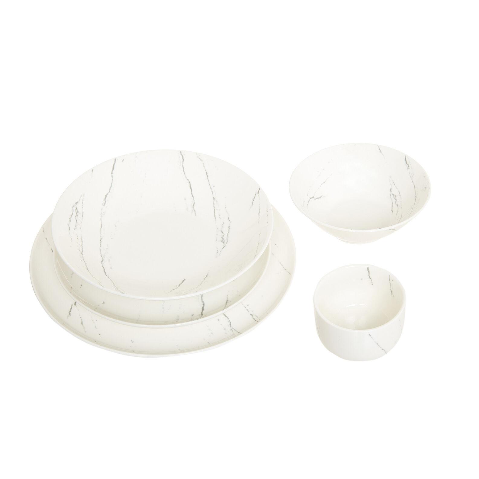 Linea tavola in porcellana effetto marmo