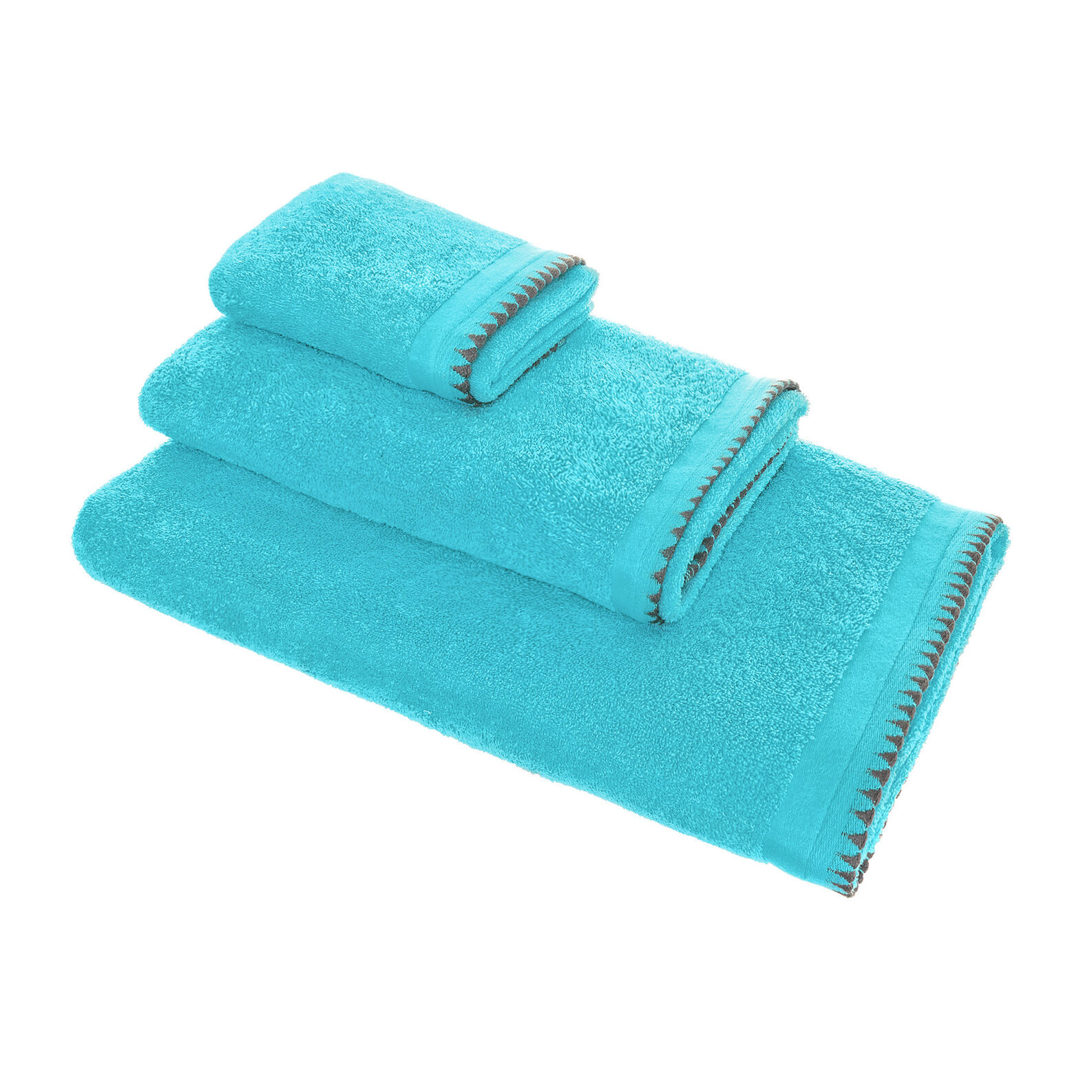 100% cotton towel with detailed edging