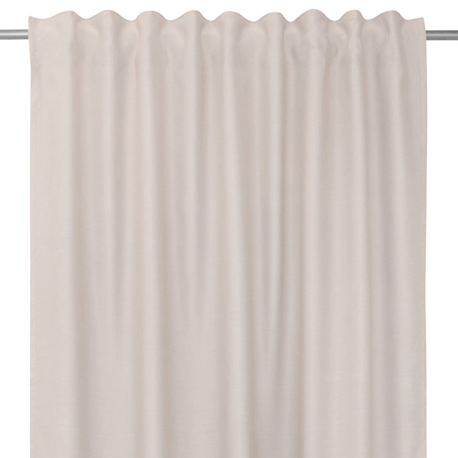 Soft curtain with hidden tabs