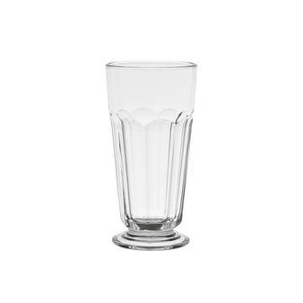 Calice milkshake vetro decorazione scanalata