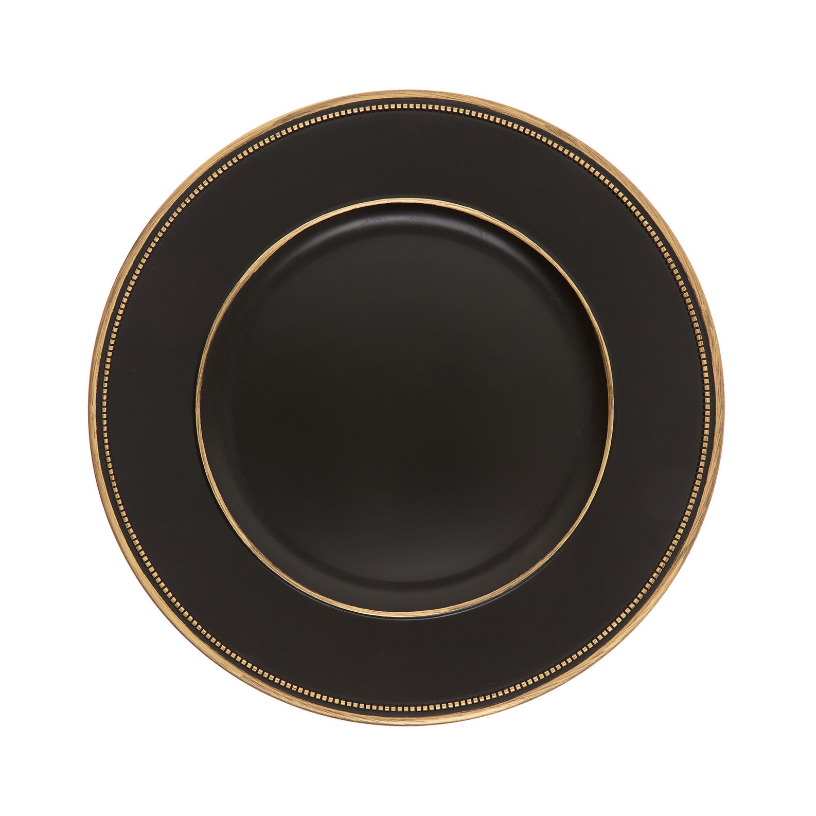 Black and gold PVC charger plate