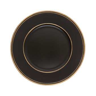 Sottopiatto PVC nero e oro