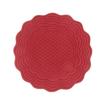 Round solid colour table mat in 100% cotton