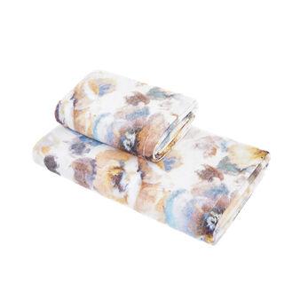 Asciugamano cotone velour stampa floreale