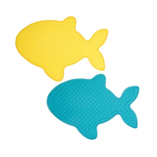 2-Pack fish-shaped table mats in 100% cotton