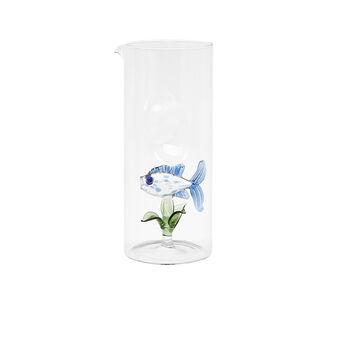 Caraffa vetro dettaglio pesciolino