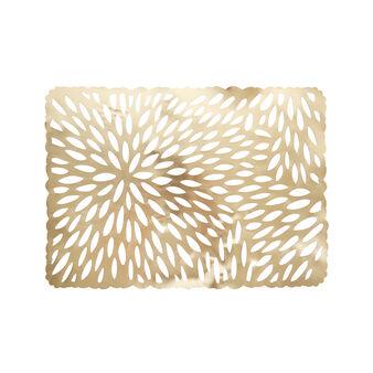 Cut-out PVC table mat