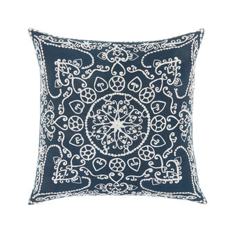 Cushion with raised geometric embroidery