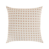 Braided jacquard cushion with rattan effect 45x45cm