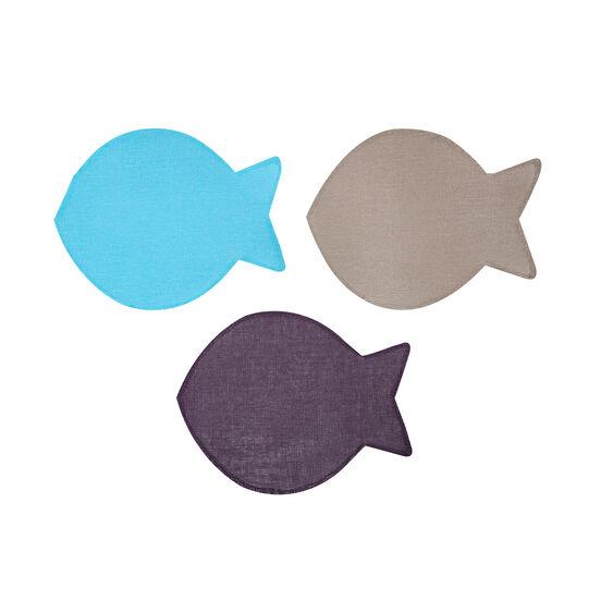 Fish-shaped paper fibre table mat