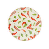 New bone China serving dish with chilli peppers motif