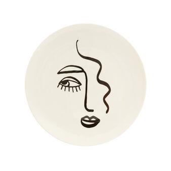 Piatto da portata porcellana motivo viso