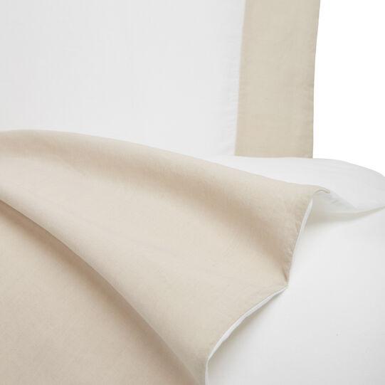 Copripiumino raso di cotone e lino