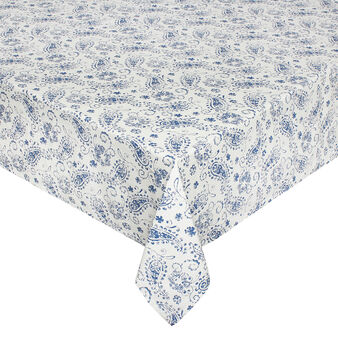 100% cotton tablecloth with paisley print