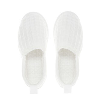 Waffle weave slippers in 100% cotton