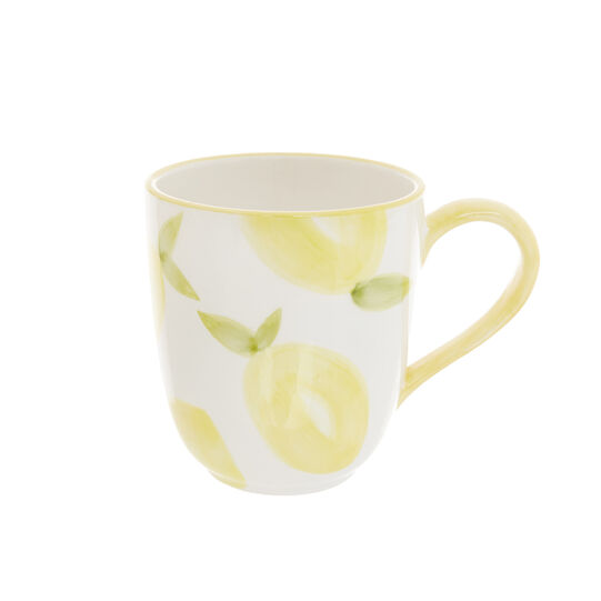 Ceramic mug with lemons motif