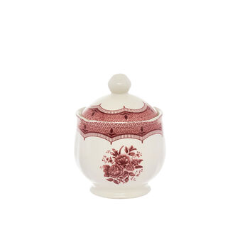 Victoria ceramic sugar bowl with floral decoration