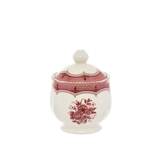 Victoria ceramic sugar bowl with floral decoration