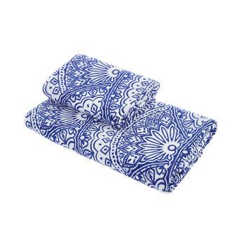 Asciugamano velour puro cotone stampa ventagli