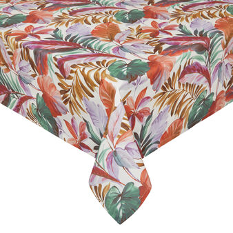 100% cotton tablecloth with leaf print