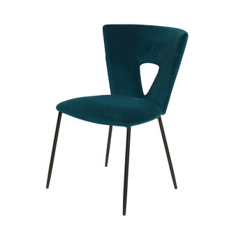 Poltroncina in velluto Dark Teal