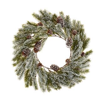Decorative pine wreath