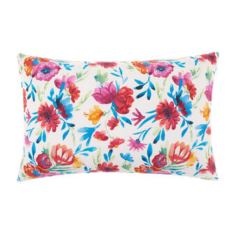 100% cotton cushion with floral print