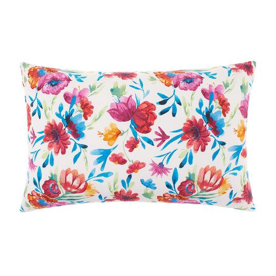 Cuscino puro cotone stampa floreale
