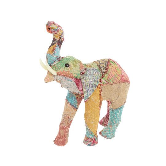 Elefante fatto a mano in materiale riciclato